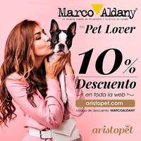 Marco Aldany es Pet Lover 10% dto